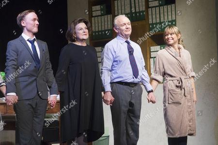 Joseph Prowen (Cast), Ann Mitchell (Cast), Bruce Alexander (Cast) and Sarah Alexander (Cast) during the curtain call
