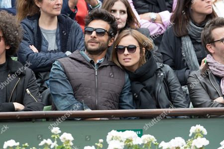 Stock Picture of Maxime Nucci and his companion Isabelle Ithurburu