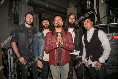 Pop Evil - Leigh Kakaty, Chachi Riot, Dave Grahs, Matt DiRito, and Nick Fuelling