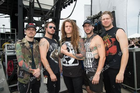 Miss May I - Levi Benton, B.J. Stead, Ryan Neff, Justin Aufdemkampe, and Jerod Boyd