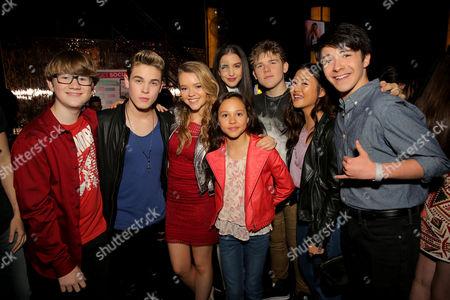 Stock Photo of Aiden Miner, Ricardo Hurtado, Jade Pettyjohn, Brianna Yde, Lilimar Hernandez, Sean Ryan Fox, Megan Lee and Sloane Morgan Siegel