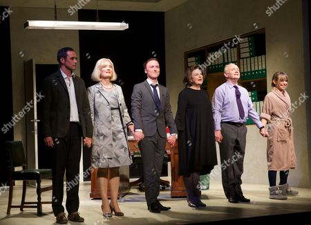 Stock Image of Steve John Shepherd, Jane Wymark, Joseph Prowen, Ann Mitchell, Bruce Alexander and Sarah Alexander