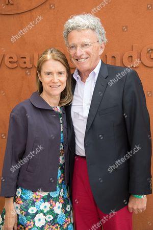 Nelson Monfort and Dominique Monfort