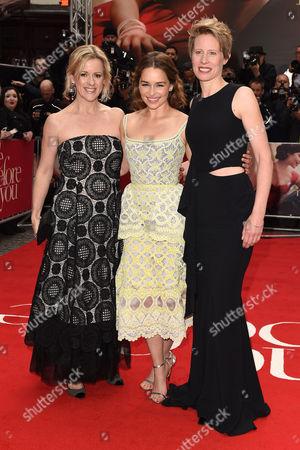 JoJo Moyes, Emilia Clarke and Thea Sharrock