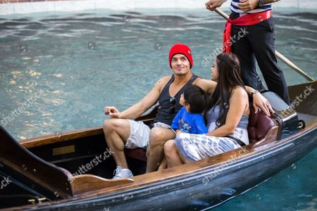 Antonio Sabato Jr., Cheryl Moana Marie and Antonio Kamakanaaloh
