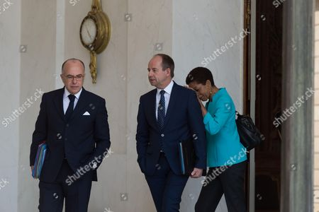 French Interior minister, Bernard Cazeneuve, French Minister of Justice, Keeper of the Seals, Jean-Jacques Urvoas and French minister of overseas territories, George Pau-Langevin