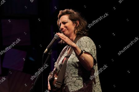 """Isy Suttie performing at the Cambridge theatre, London in """"Stand up for Street Child"""", charity event in aid of Street Child's Girls Speak Out appeal"""