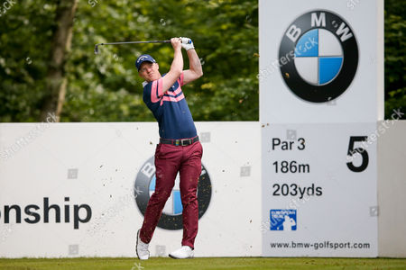 English golf professional David Horsey  tees off on the 5th  during the BMW PGA Championship at the Wentworth Club, Virginia Water