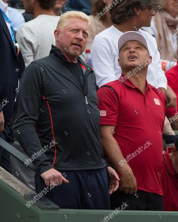 Boris Becker and Marian Vajda