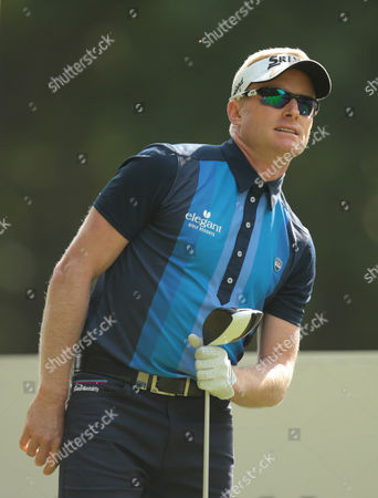 Stock Image of Simon Dyson during The BMW PGA Championship at Wentworth Club on 26th May 2016