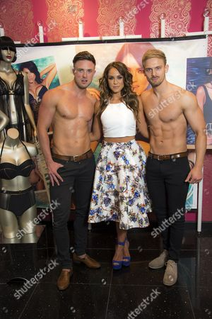 Stock Image of Ann Summers 'face of swimwear' Vicky Pattison meets and greets fans at the Bluewater store. Assisted by two of the Ali Ahmad Said Esber Cabaret Act.