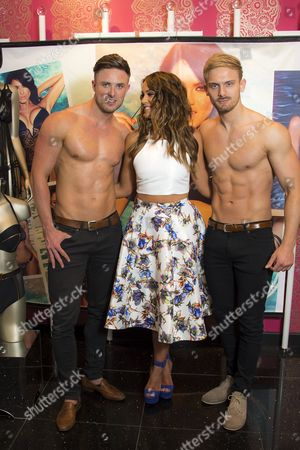 Ann Summers 'face of swimwear' Vicky Pattison meets and greets fans at the Bluewater store. Assisted by two of the Ali Ahmad Said Esber Cabaret Act.