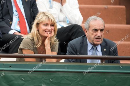 Isabelle Camus and the President of the French Tennis Federation Jean Gachassin