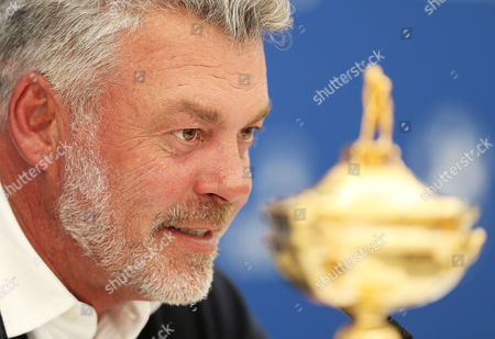 European Team Captain for the upcoming Ryder Cup Darren Clarke speaks as he announces his selected Vice Captains Paul Lawrie, Pardraig Harrington and Thomas Bjorn during the BMW PGA Championship Day Two played at the Wentworth Club, Surrey on 27th May 2016