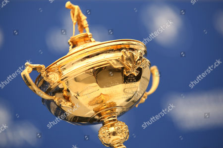 The Ryder Cup on display before European Team Captain for the upcoming Ryder Cup Darren Clarke announces his selected Vice Captains Paul Lawrie, Pardraig Harrington and Thomas Bjorn during the BMW PGA Championship Day Two played at the Wentworth Club, Surrey on 27th May 2016