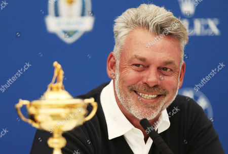 European Team Captain for the upcoming Ryder Cup Darren Clarke as he announces his selected Vice Captains Paul Lawrie, Pardraig Harrington and Thomas Bjorn during the BMW PGA Championship Day Two played at the Wentworth Club, Surrey on 27th May 2016