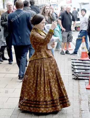 Finn Atkins plays Charlotte Bronte