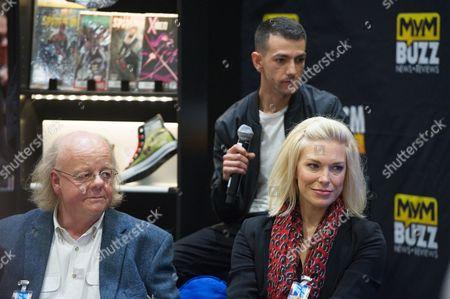 Stock Image of Roger Ashton-Griffiths, Josef Altin and Hannah Waddingham