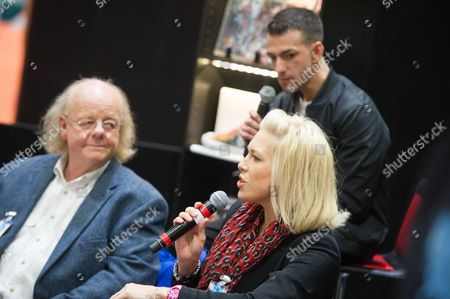 Roger Ashton-Griffiths, Josef Altin and Hannah Waddingham