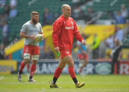 Charlie Hodgson of Saracens during the Aviva Premiership Rugby Final match between Saracens and Exeter Chiefs played at Twickenham Stadium, London on May 28th 2016