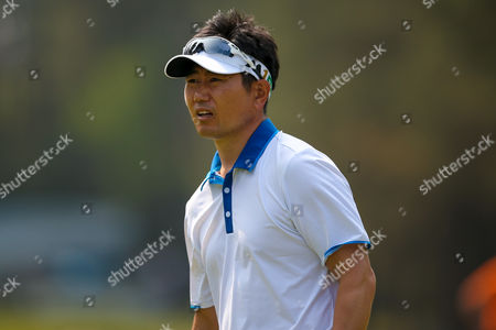Apprehensive Korean golf professional Y E Yang during the BMW PGA Championship at the Wentworth Club, Virginia Water