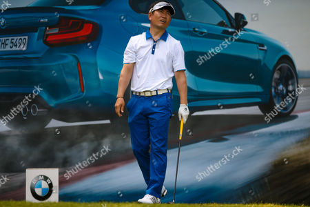 Korean golf professional Y E Yang  not happy with his tee shot at the 10th during the BMW PGA Championship at the Wentworth Club, Virginia Water