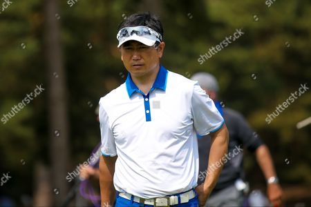 Korean golf professional Y E Yang during the BMW PGA Championship at the Wentworth Club, Virginia Water