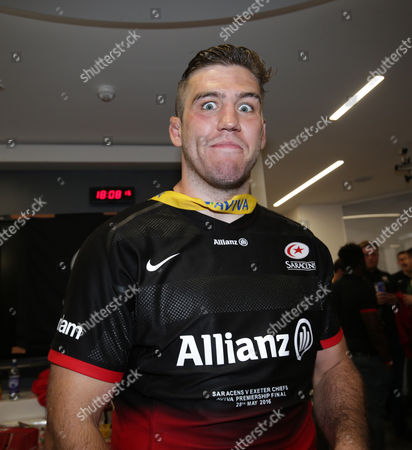 A freshly shaved Will Fraser of Saracens after the match