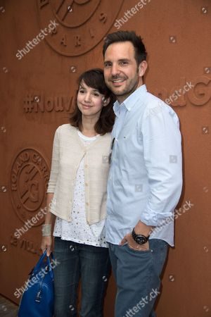 Christophe Michalak and his wife Delphine McCarty