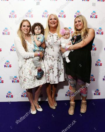 Vanessa Feltz with daughters Saskia Kurer, Allegra Kurer with their children
