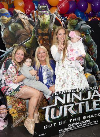 Stock Image of Saskia Kurer, Vanessa Feltz, Alegra Kurer and daughter