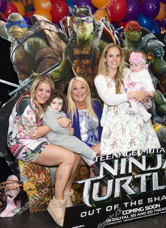 Saskia Kurer, Vanessa Feltz, Alegra Kurer and daughter