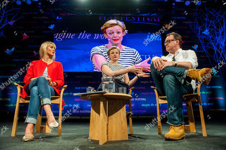 Stock Picture of Clemency Burton-Hill talks to Maxine Peake and Russell T Davies at the Hay festival