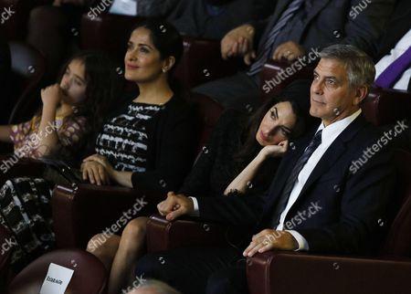 Salma Hayek, Valentina Paloma Pinault, Amal Clooney and George Clooney