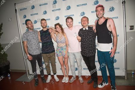 MisterWives - Mandy Lee, William Hehir, Etienne Bowler, Marc Campbell, Jesse Blum, and Mike Murphy