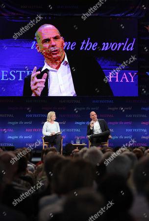 Martha Kearney and former Greek Finance Minister Yanis Varoufakis