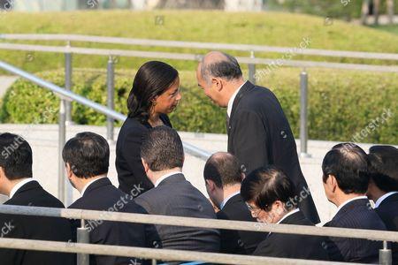 U.S. National Security Advisor Susan Rice visit to Hiroshima Peace Memorial Park in Hiroshima, Japan.
