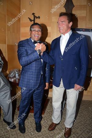 Fikile Mbalula and Arnold Schwarzenegger