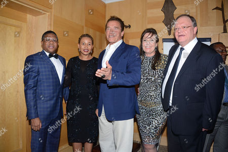 Editorial photo of Arnold Schwarzenegger gala dinner, Johannesburg, South Africa - 27 May 2016