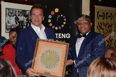 Editorial picture of Arnold Schwarzenegger gala dinner, Johannesburg, South Africa - 27 May 2016