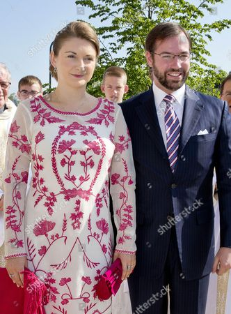 Editorial image of Prince Gabriel communion in Nommern, Luxembourg - 28 May 2016