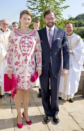 Stock Image of Hereditary Grand Duke Guillaume of Luxembourg of Luxembourg and Countess Stephanie de Lannoy