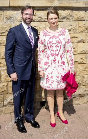 Stock Photo of Hereditary Grand Duke Guillaume of Luxembourg of Luxembourg and Countess Stephanie de Lannoy
