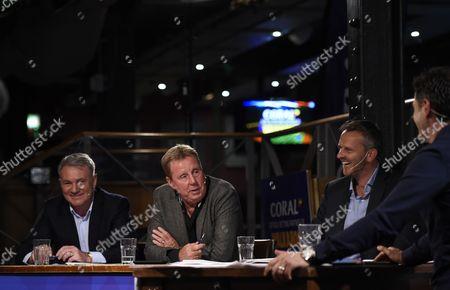 (L-R) Ray Houghton, Harry Redknapp, Dietmar Hamann and Scott Minto.