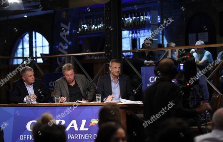 (L-R) Ray Houghton, Harry Redknapp, Dietmar Hamann.