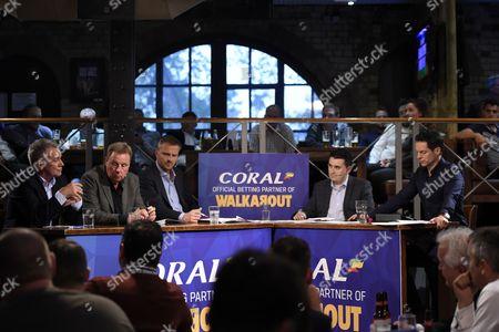 (L-R) Ray Houghton, Harry Redknapp, Dietmar Hamann, Mark Langdon and Scott Minto.