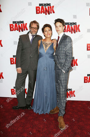 Tamsin Greig, Richard Leaf and Jakob Leaf