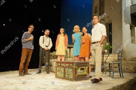 Sam Crane (Theo), Christos Callow (Stamatis), Glykeria Dimou (Maria), Elizabeth McGovern (June), Pippa Nixon (Charlotte), Ben Miles (Harvey)