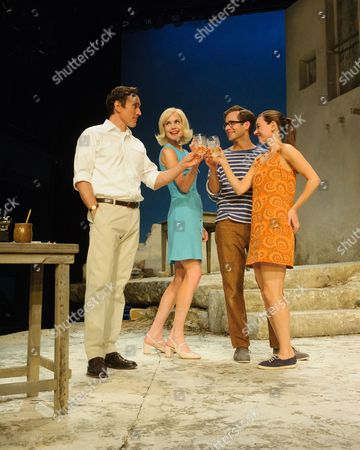 Stock Photo of Ben Miles (Harvey), Elizabeth McGovern (June), Sam Crane (Theo), Pippa Nixon (Charlotte)