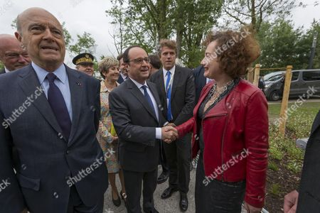 Stock Image of Anouk Legendre and Francois Hollande